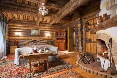 Украшаем интерьер деревянного дома